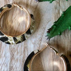 Jewelry - NEW! Animal Print Acrylic Hoops Leopard Cheetah